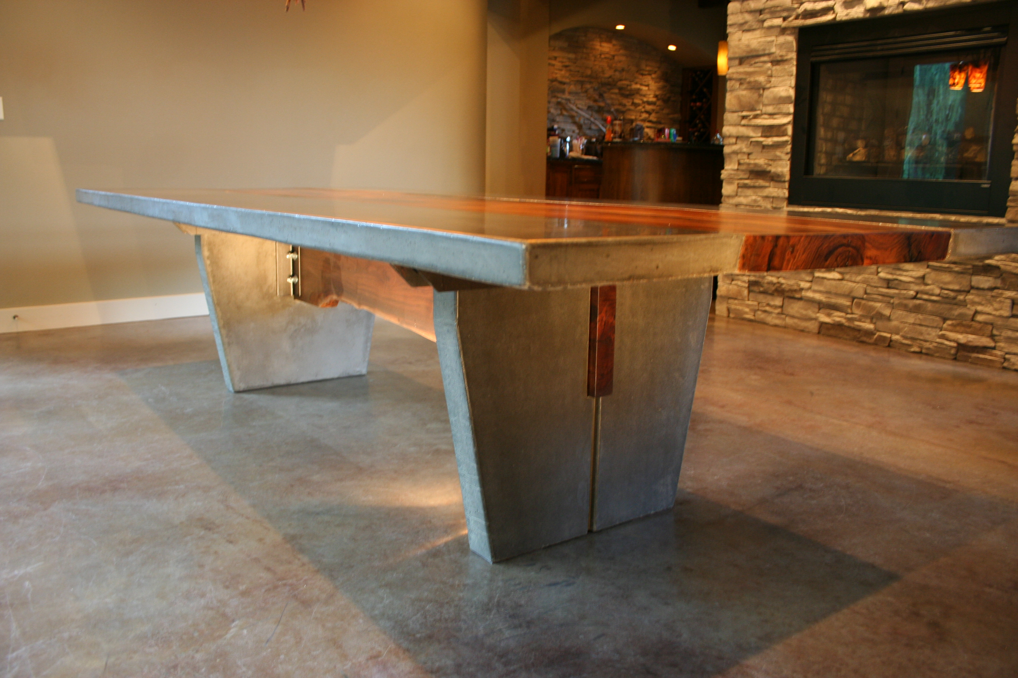 Walnut & Concrete Dining Table | Strack Studio Furniture, LLC