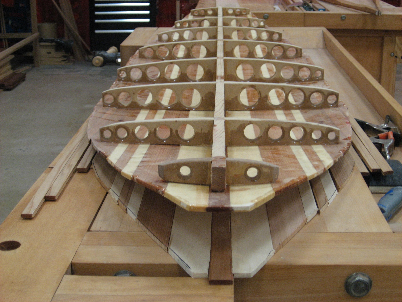 Wooden Surfboard Strack Studio Furniture Llc