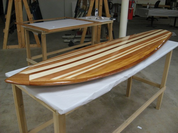 hollow wooden surfboard plans paint